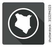 kenya map dark sign icon....