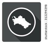 turkmenistan map dark sign icon....