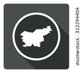 slovenia map dark sign icon....
