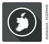ireland map dark sign icon....