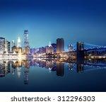 Building Skyscraper Panoramic Night New - Fine Art prints
