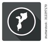 mozambique map dark sign icon....