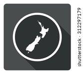 new zealand map dark sign icon. ...