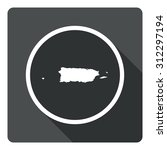 puerto rico map dark sign icon. ...