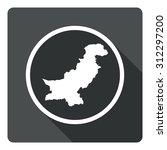 pakistan map dark sign icon....