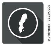 sweden map dark sign icon....