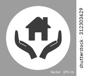 house vector icon | Shutterstock .eps vector #312303629