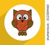 owl icon design  vector... | Shutterstock .eps vector #312304460