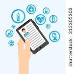 medicine online design  vector... | Shutterstock .eps vector #312305303