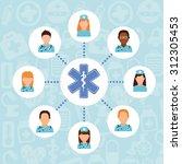 medicine online design  vector... | Shutterstock .eps vector #312305453