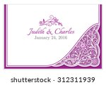 classical wedding announcement... | Shutterstock .eps vector #312311939
