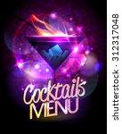 cocktails menu vector design... | Shutterstock .eps vector #312317048