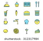 set of cooking and kitchen... | Shutterstock .eps vector #312317984
