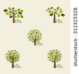 abstract trees. vector... | Shutterstock .eps vector #312325328