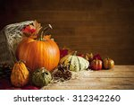 A Rustic Autumn Still Life Wit...