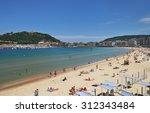san sebastian or donostia ... | Shutterstock . vector #312343484
