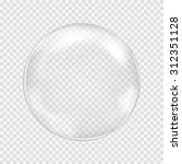 big transparent water glass... | Shutterstock .eps vector #312351128
