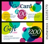 vector gift voucher template ... | Shutterstock .eps vector #312351770