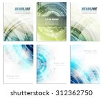 set of abstract flyer template  ... | Shutterstock .eps vector #312362750