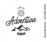 and so the adventure begins... | Shutterstock .eps vector #312367454