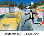 illustration of a suited but... | Shutterstock .eps vector #312369044