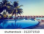 Tropical Resort Swimming Pool...