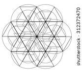 lines vector triangle... | Shutterstock .eps vector #312372470