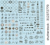 vector set of icons and labels | Shutterstock .eps vector #312372770