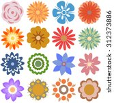 multiple  flowers   various...   Shutterstock .eps vector #312373886