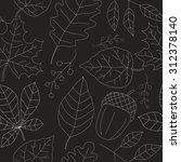 seamless autumn texture. white... | Shutterstock .eps vector #312378140