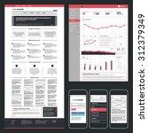 website  admin dashboard and... | Shutterstock .eps vector #312379349
