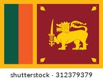 flag of sri lankal. vector... | Shutterstock .eps vector #312379379