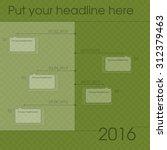 newsletter template graph for... | Shutterstock .eps vector #312379463
