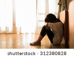 parents left the girl to stay... | Shutterstock . vector #312380828
