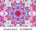 kaleidoscopic floral pattern ... | Shutterstock . vector #312388349