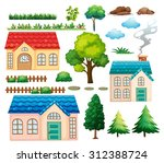 Houses And Different Plants...