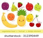 vector image of vegetarian food.... | Shutterstock . vector #312390449