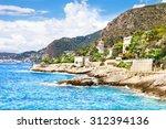 coast in cap d'ail  cote d'azur ... | Shutterstock . vector #312394136