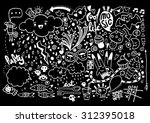 hand drawing doodle elements... | Shutterstock .eps vector #312395018