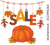 foliage with text sale and... | Shutterstock .eps vector #312396263