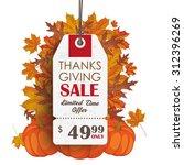 thanksgiving sale price sticker ... | Shutterstock .eps vector #312396269