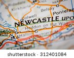 map photography  newcastle city ... | Shutterstock . vector #312401084