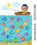 worksheet for kindergarten kids ... | Shutterstock .eps vector #312411188