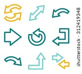 arrows web icons | Shutterstock .eps vector #312419348