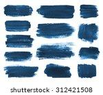 hand drawn watercolor dark blue ...   Shutterstock . vector #312421508