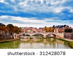 Bridge Across River Tiber ...