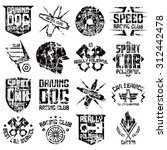 car and biker culture badges.... | Shutterstock .eps vector #312442478