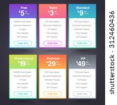six vector pricing tables for... | Shutterstock .eps vector #312460436