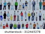 diversity ethnicity variation... | Shutterstock . vector #312465278