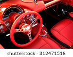 detail of interior red sports... | Shutterstock . vector #312471518